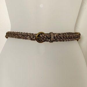 Target Gold Glitter Braided Belt Size S
